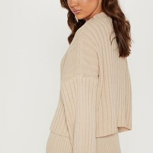 Ribbed Oversized Cropped Sweater